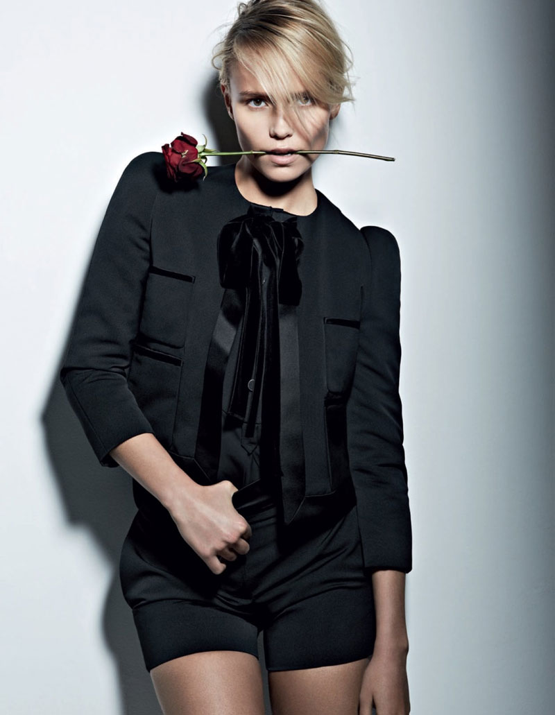 natasha poly vogue russia11 Natasha Poly Models Spanish, Flamenco Style for Vogue Russia May 2013 by Patrick Demarchelier