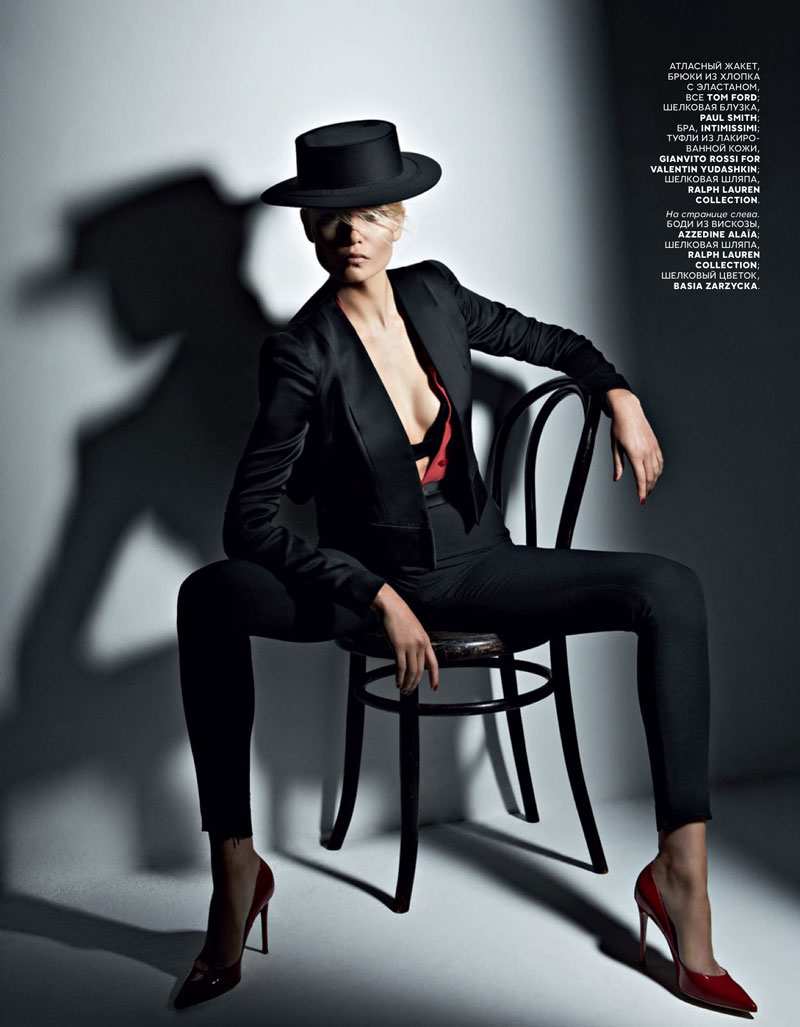 natasha poly vogue russia2 Natasha Poly Models Spanish, Flamenco Style for Vogue Russia May 2013 by Patrick Demarchelier