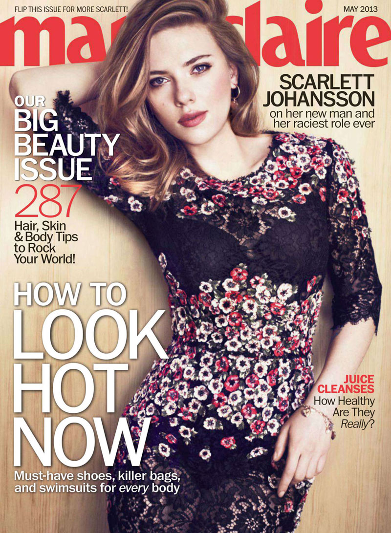 scarlett marie claire4 Scarlett Johansson Charms In Marie Claire US May 2013 by Txema Yeste