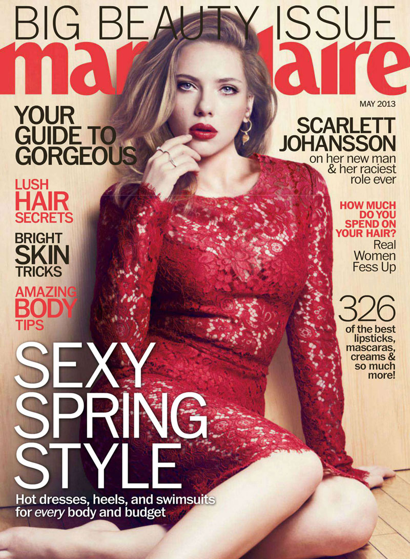 scarlett marie claire5 Scarlett Johansson Charms In Marie Claire US May 2013 by Txema Yeste