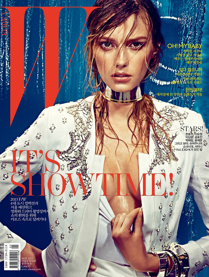 sigrid agren w korea10 Sigrid Agren Creates a Splash for W Korea May 2013 Cover Shoot by Alexi Lubomirski
