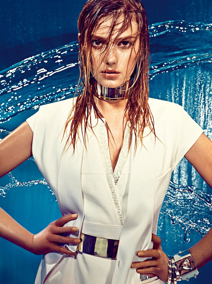 sigrid agren w korea4 Sigrid Agren Creates a Splash for W Korea May 2013 Cover Shoot by Alexi Lubomirski