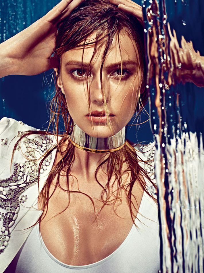 Sigrid Agren Creates a Splash for W Korea May 2013 Cover Shoot by Alexi Lubomirski