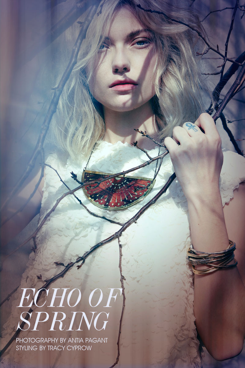 "Farah Holt by Antia Pagant in ""Echo of Spring"" for Fashion Gone Rogue"
