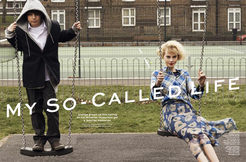 stylist magazine1 David Titlow Shoots Grown Up Grunge for Stylist Magazine April 2013