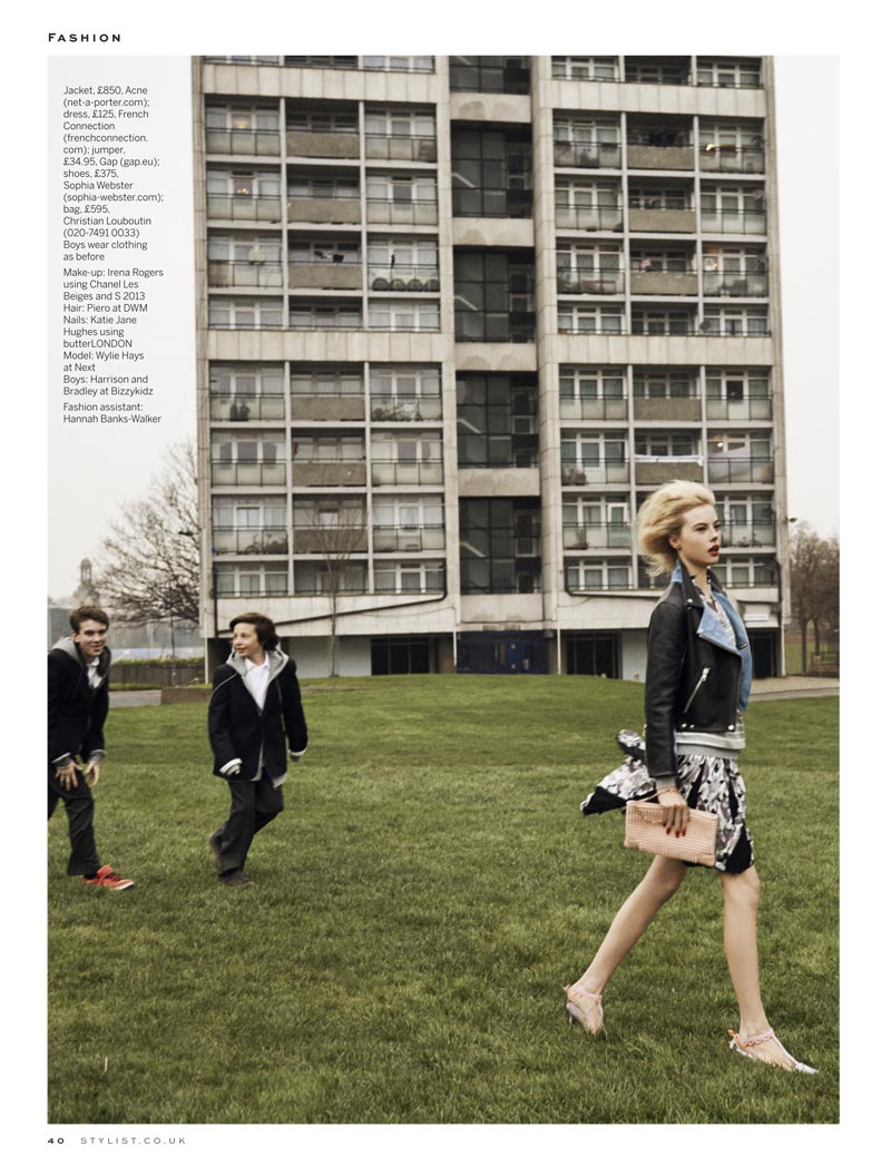 stylist magazine7 David Titlow Shoots Grown Up Grunge for Stylist Magazine April 2013