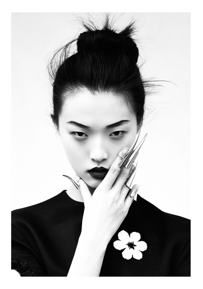 Tian Yi is Geisha Glam for Elle Vietnam's May 2013 Cover Shoot