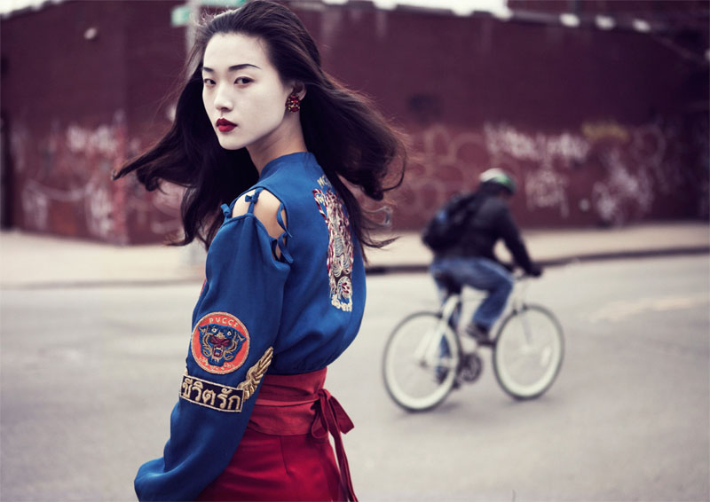 tian yi geisha7 Tian Yi is Geisha Glam for Elle Vietnams May 2013 Cover Shoot