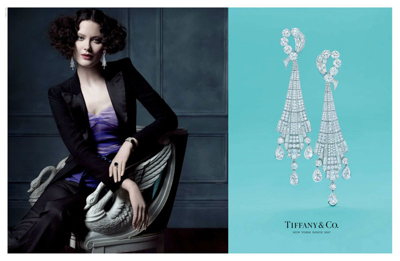 tiffany co6 Michael Thompson Shoots Liu Wen, Doutzen Kroes, Karen Elson and More for Tiffany & Co. Spring 2013 Campaign