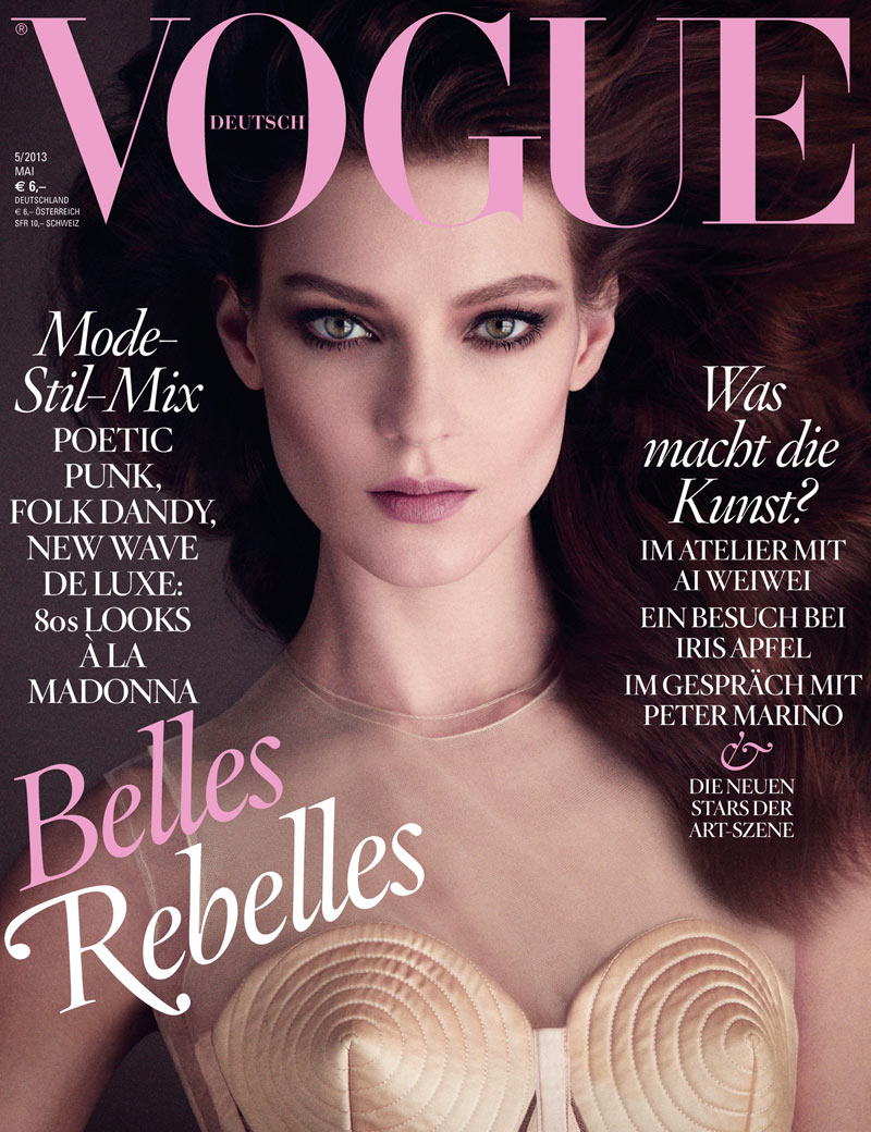 vogue germany kati nescher cover Kati Nescher Stuns in Jean Paul Gaultier for Vogue Germanys May 2013 Cover