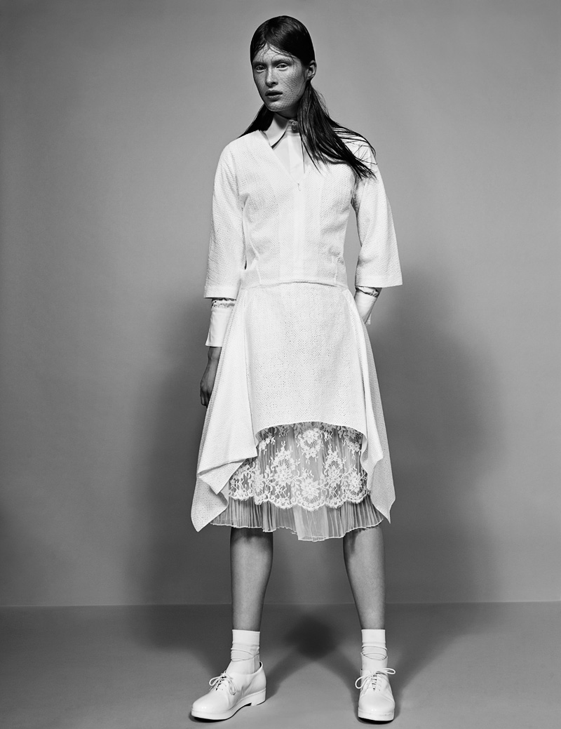 8 FW130405Soma 22987 Ilva Heitmann Dons All White for SOMA Magazine by Felix Wong