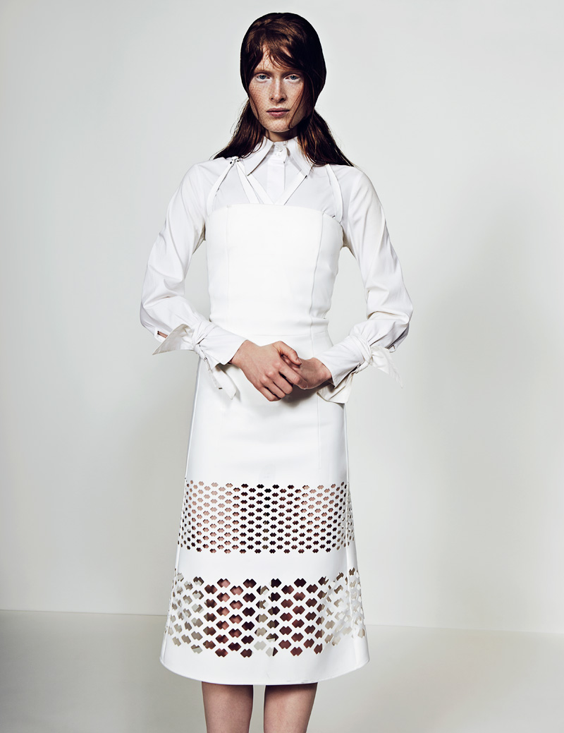 9 FW130405Soma 22464 Ilva Heitmann Dons All White for SOMA Magazine by Felix Wong