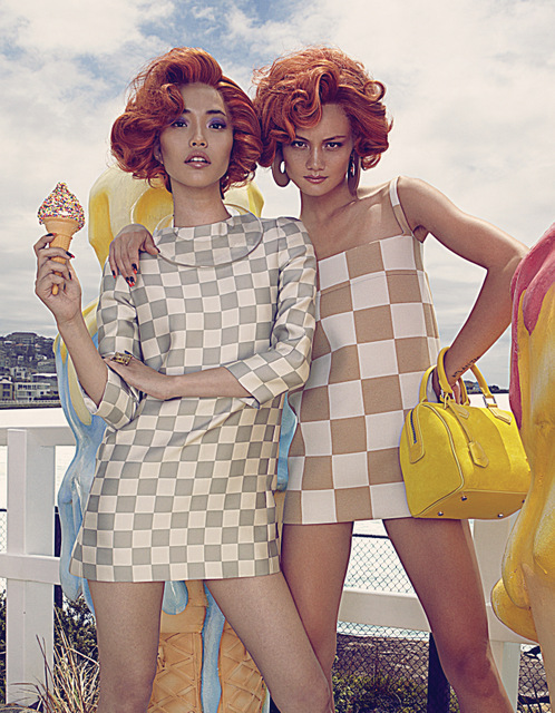 Bazaar IceCreamVanIMG 3399 Rachel Rutt and Seon Model Sweet Fashions for Harpers Bazaar China by Shxpir
