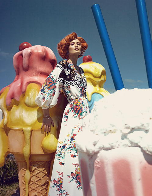 Bazaar IceCreamVanIMG 3657 1 Rachel Rutt and Seon Model Sweet Fashions for Harpers Bazaar China by Shxpir