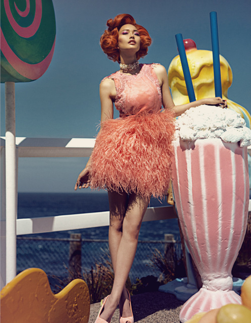 Bazaar IceCreamVanIMG 3745 1 Rachel Rutt and Seon Model Sweet Fashions for Harpers Bazaar China by Shxpir