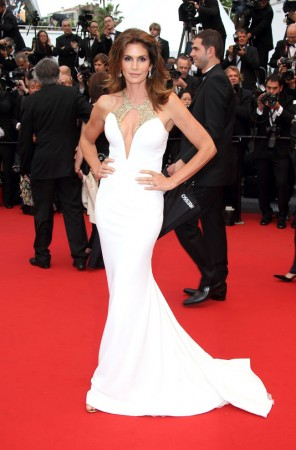 Cindy Crawford Turns Heads in Roberto Cavalli at the 66th Annual Cannes Film Festival