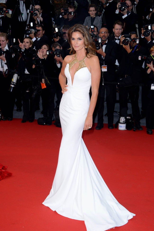 Cindy Crawford in Roberto Cavalli at Cannes Film Festival 2013 Opening Ceremony 15 05 2013 B Cindy Crawford Turns Heads in Roberto Cavalli at the 66th Annual Cannes Film Festival
