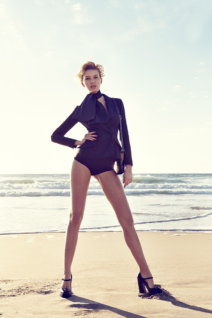 ElleCzech12 Adriana Cernanova Hits the Beach for Elle Czech May 2013 by Branislav Simoncik