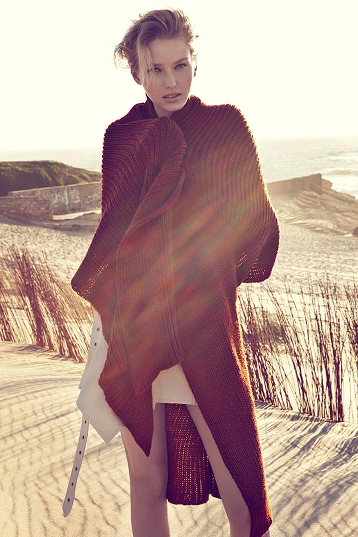 Adriana Cernanova Hits the Beach for Elle Czech May 2013 by Branislav Simoncik