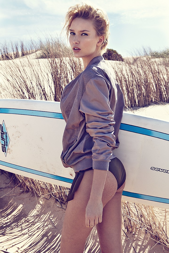 ElleCzech6 Adriana Cernanova Hits the Beach for Elle Czech May 2013 by Branislav Simoncik