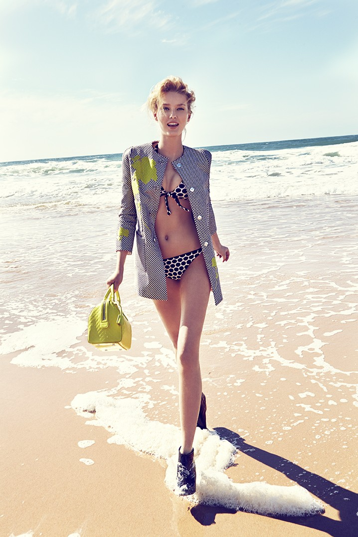 ElleCzech7 Adriana Cernanova Hits the Beach for Elle Czech May 2013 by Branislav Simoncik
