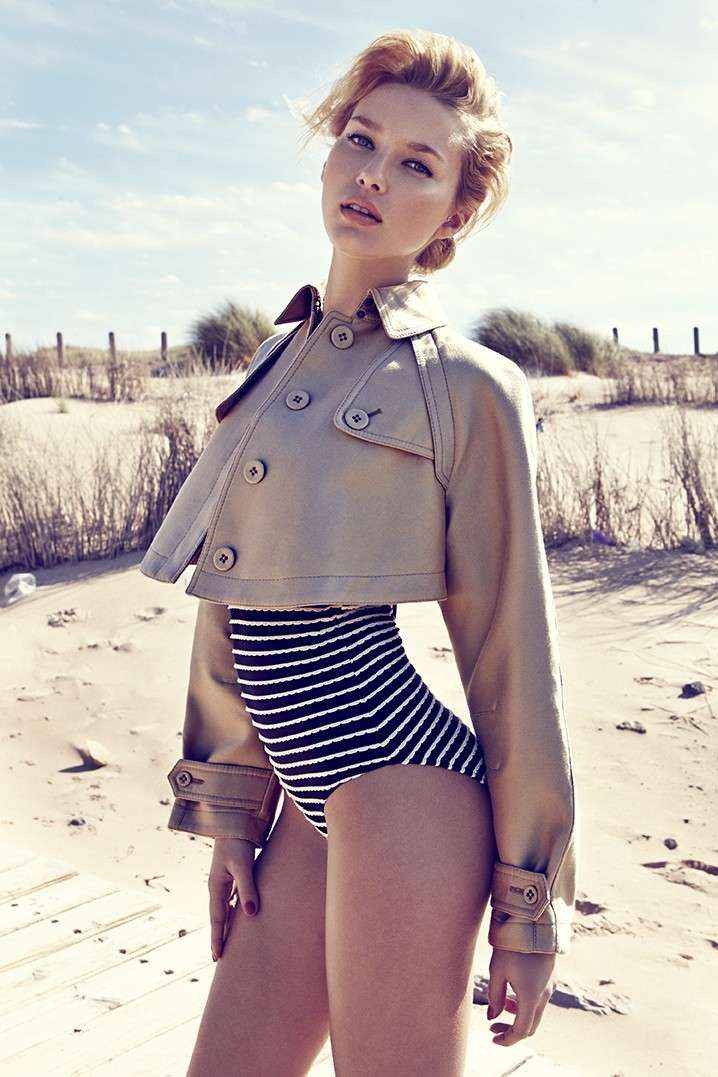ElleCzech8 Adriana Cernanova Hits the Beach for Elle Czech May 2013 by Branislav Simoncik