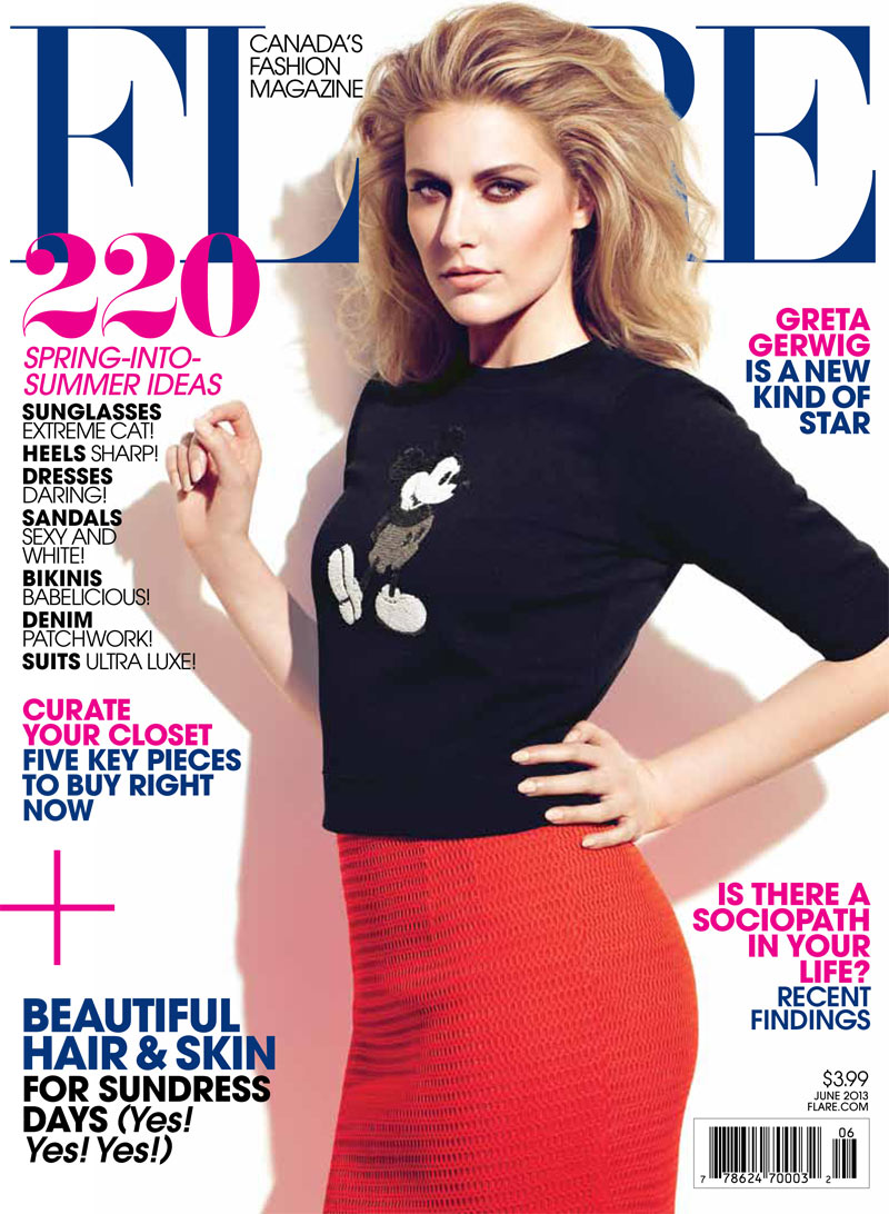 FLR06 cover Greta Gerwig is Pretty in Marc Jacobs for Flares June 2013 Cover