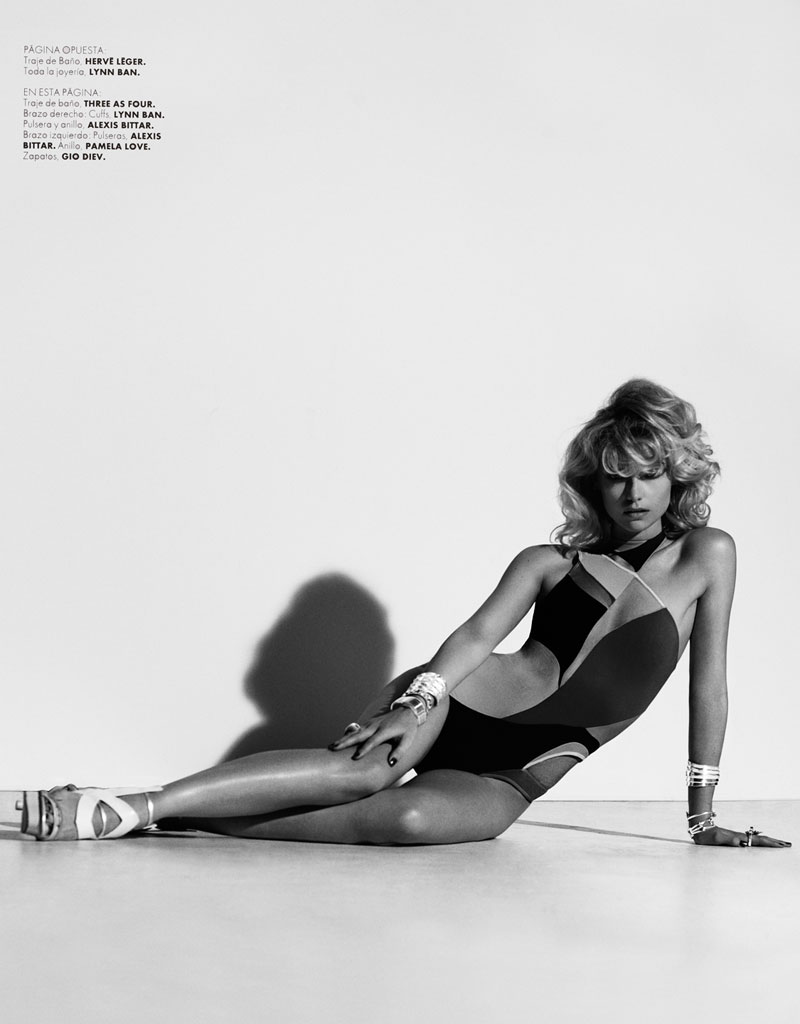 FarahElle6 Farah Holt is Sexy in Swim for Hannah Khymych in Elle Mexico May 2013