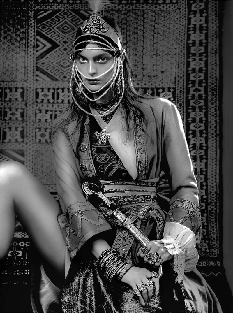 FrenchRevueGertrudHegelund1 Gertrud Hegelund Models Indian Inspired Fashions for French Revue #22 by Signe Vilstrup