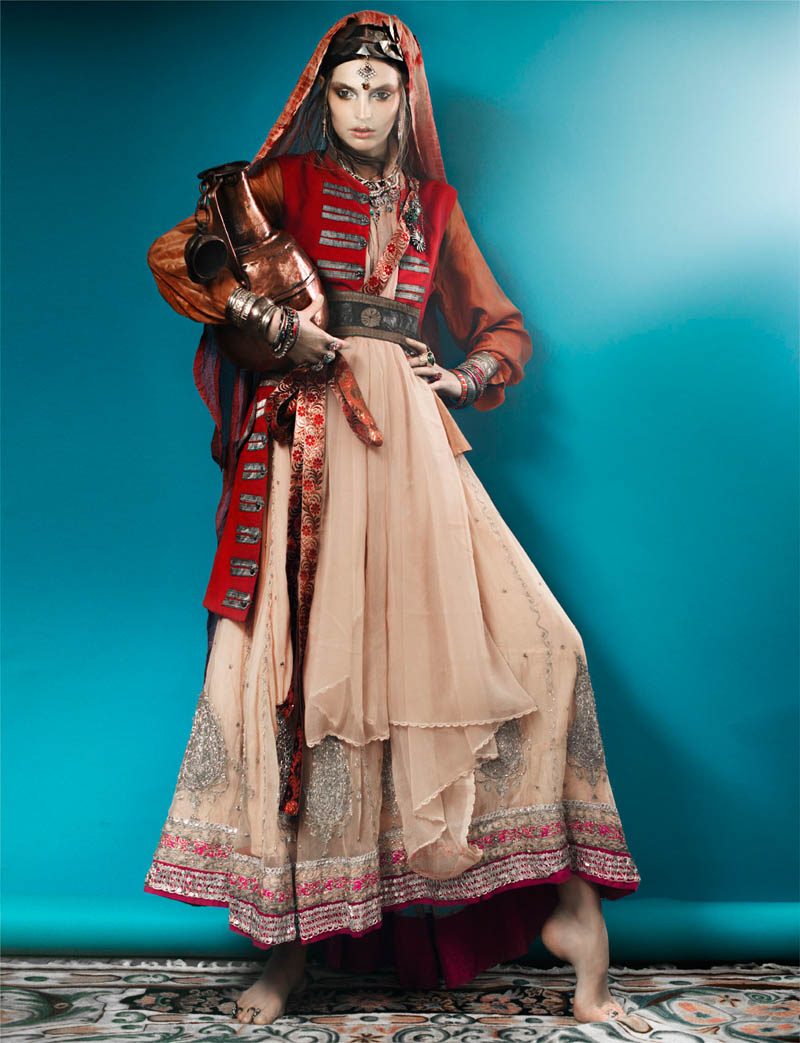 FrenchRevueGertrudHegelund4 Gertrud Hegelund Models Indian Inspired Fashions for French Revue #22 by Signe Vilstrup