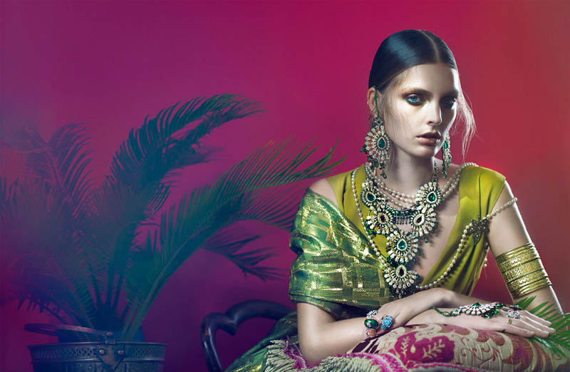 FrenchRevueGertrudHegelund6 Gertrud Hegelund Models Indian Inspired Fashions for French Revue #22 by Signe Vilstrup