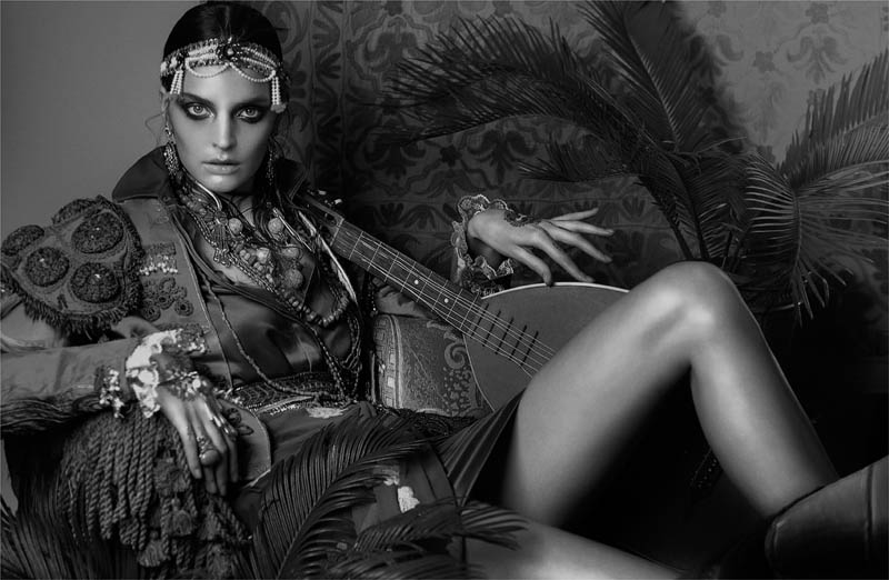 FrenchRevueGertrudHegelund9 Gertrud Hegelund Models Indian Inspired Fashions for French Revue #22 by Signe Vilstrup