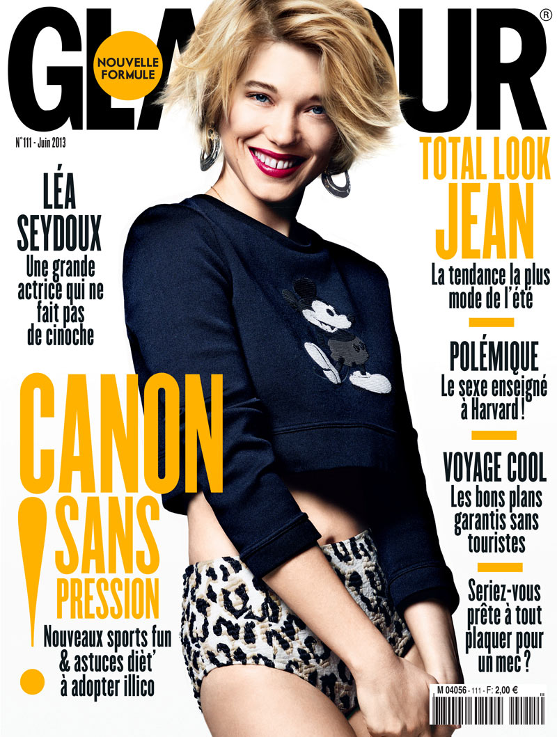 GLAMOUR FR LEA SEYDOUX COVER Lea Seydoux Poses for Jason Kim in Glamour France June 2013