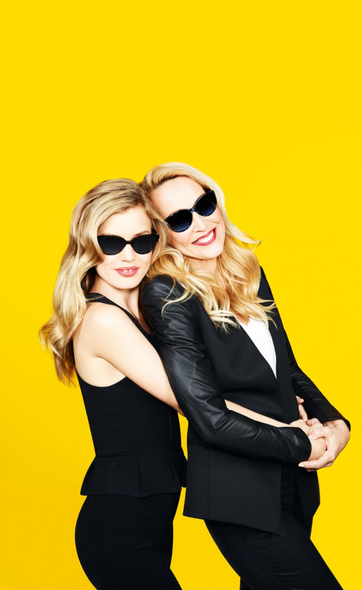 GeorgiaMayJerryHall1 737x1200 Georgia May Jagger Joins Jerry Hall for Sunglass Hut Mother's Day Campaign