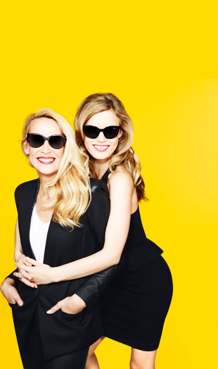 GeorgiaMayJerryHall2 708x1200 Georgia May Jagger Joins Jerry Hall for Sunglass Hut Mother's Day Campaign