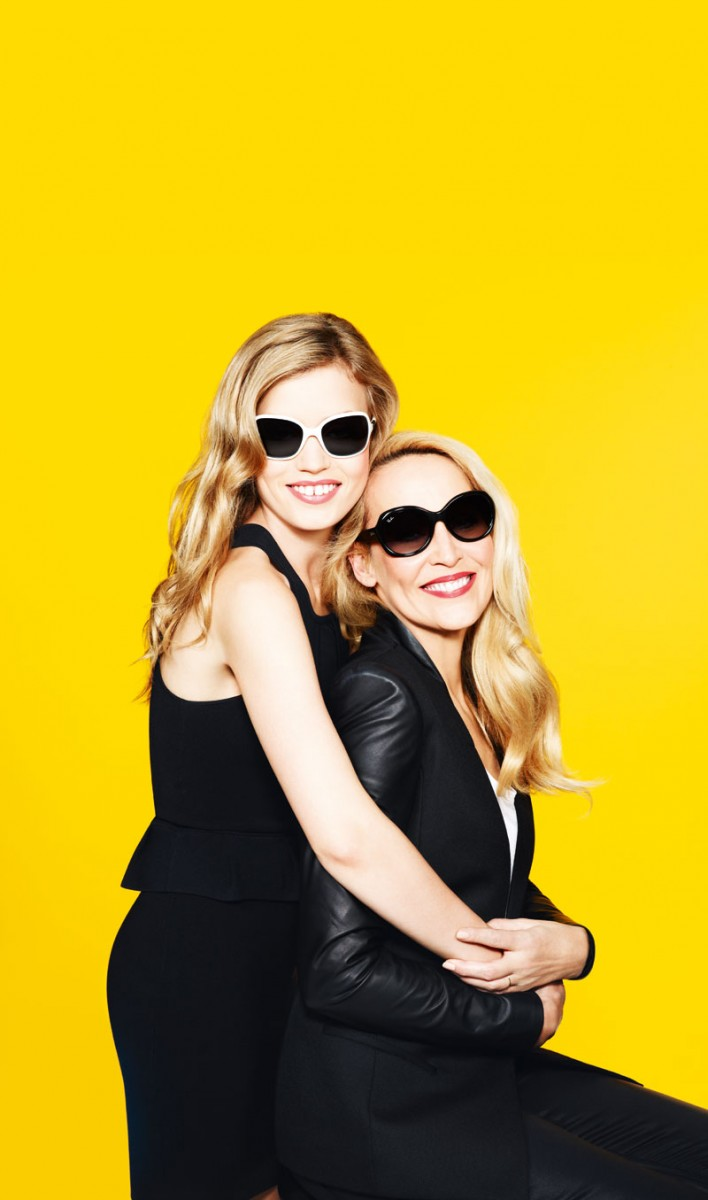 GeorgiaMayJerryHall3 708x1200 Georgia May Jagger Joins Jerry Hall for Sunglass Hut Mother's Day Campaign