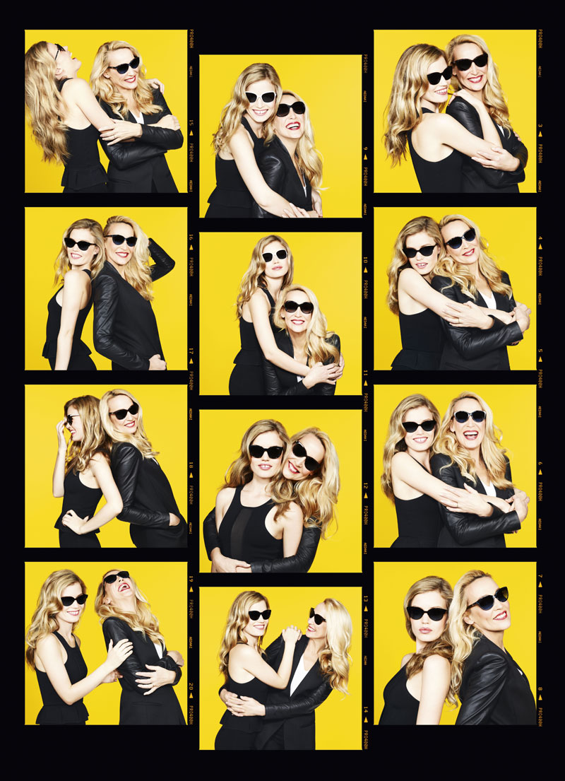 GeorgiaMayJerryHall5 Georgia May Jagger Joins Jerry Hall for Sunglass Hut Mother's Day Campaign