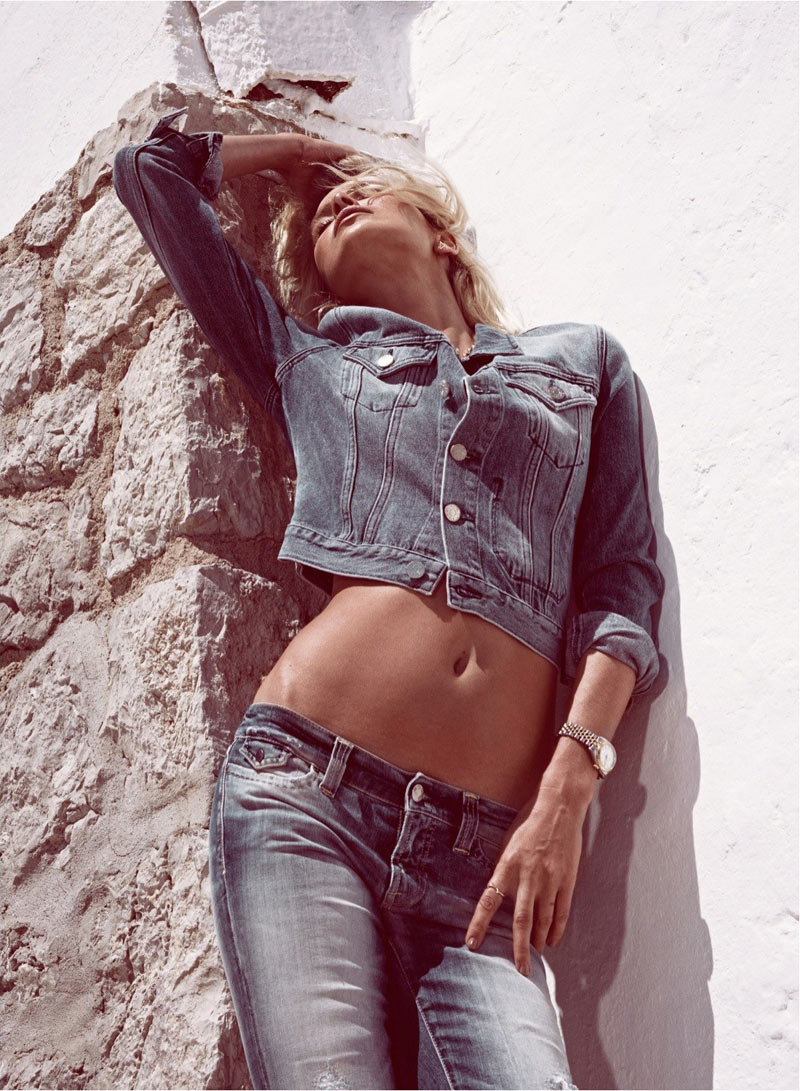 GraziaDewi5 Dewi Driegen Dons Denim for Koray Birand in Grazia Spain May 2013