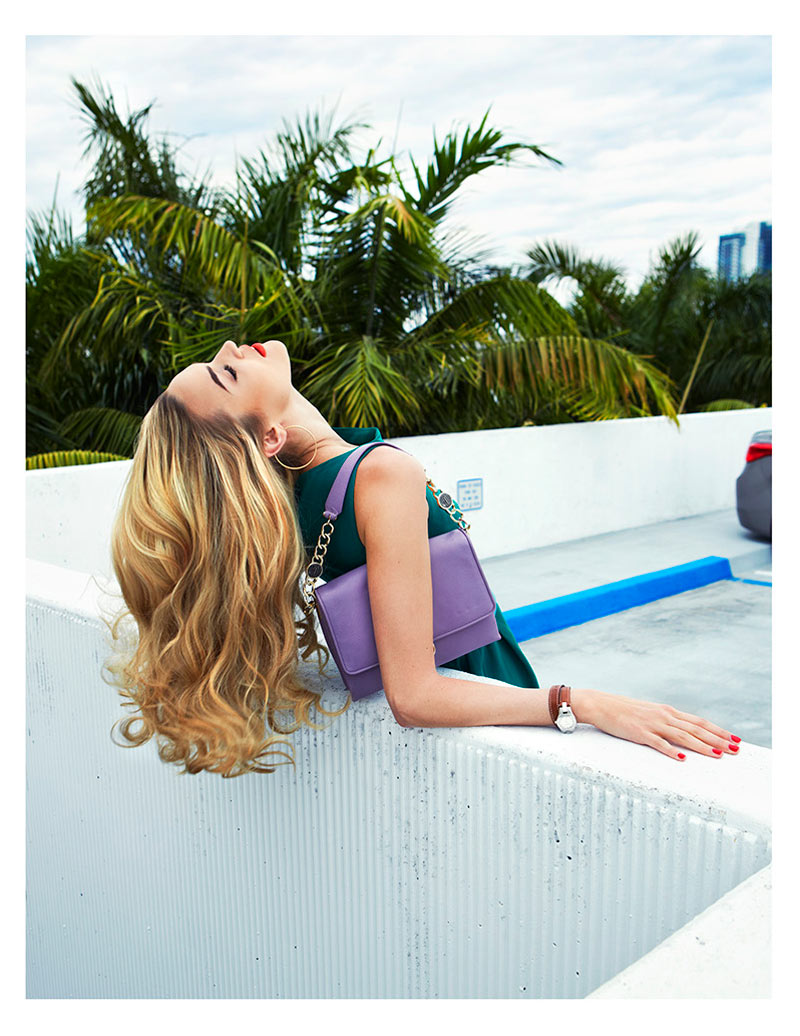 Nika Lauraitis Gets Colorful in Miami for Grazia Italy by Zoltan Tombor