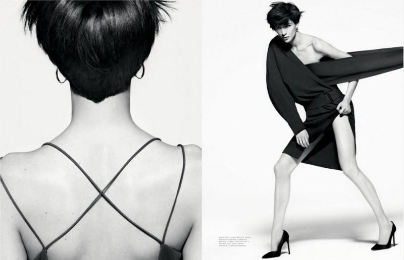 John Scarisbrick Shoots Janice Seinen Alida in Black and White for Intermission #7