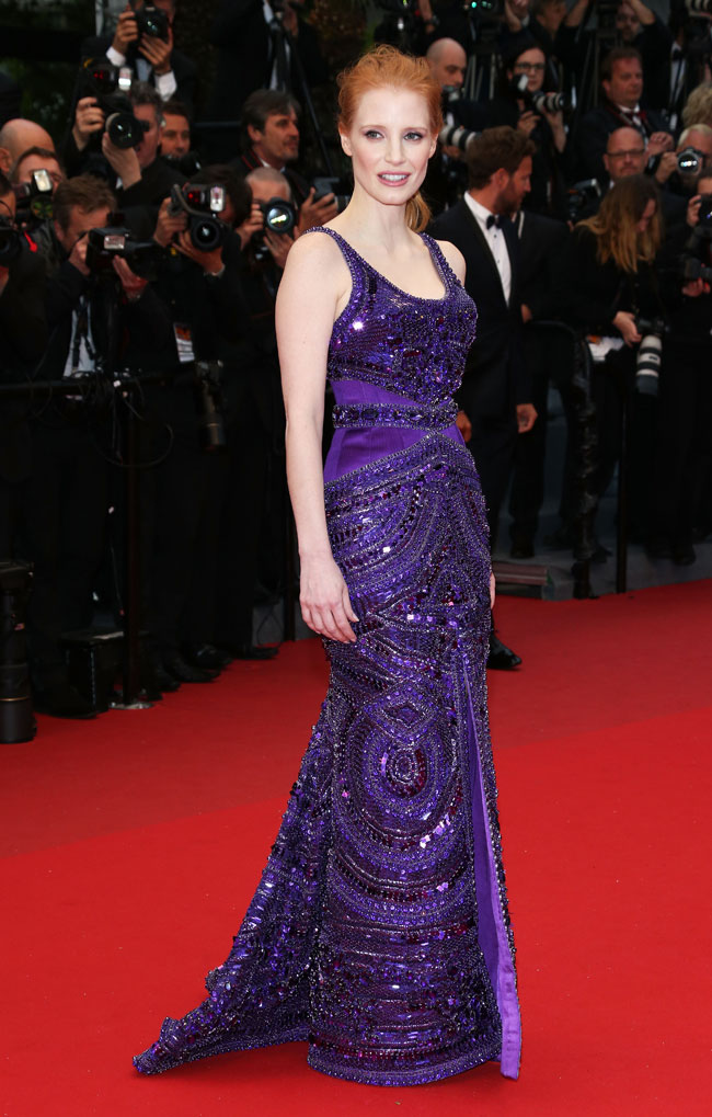 Jessica Chastain Givenchy1 Jessica Chastain Wows in Givenchy Haute Couture at the 66th Annual Cannes Film Festival