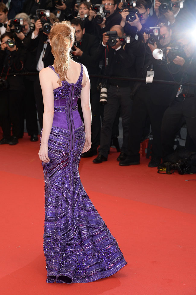 Jessica Chastain Givenchy2 Jessica Chastain Wows in Givenchy Haute Couture at the 66th Annual Cannes Film Festival