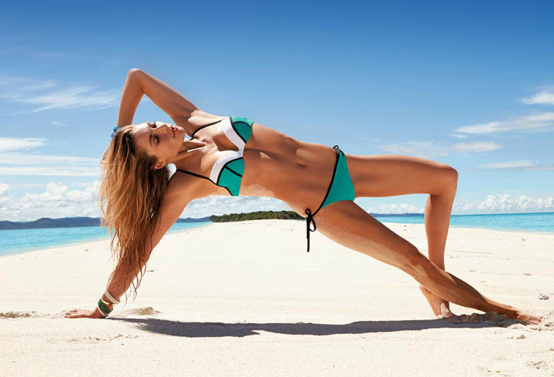 JessicaHartCalzedonia10 Jessica Hart Stuns on the Beach in Calzedonias Summer 2013 Styles