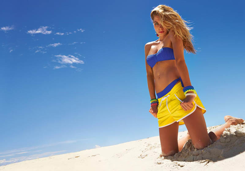 Jessica Hart Stuns on the Beach in Calzedonia's Summer 2013 Styles