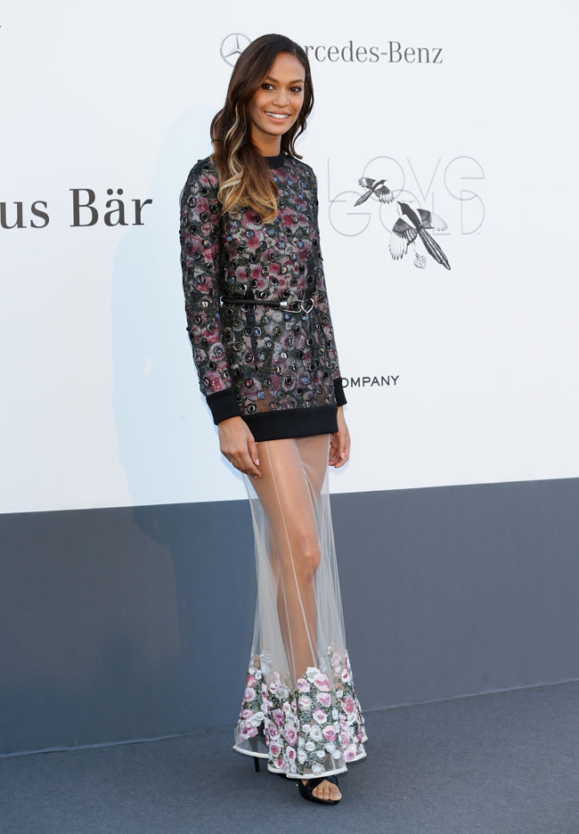 Joan Smalls in Givenchy2 Joan Smalls Wears Givenchy at the 20th Annual Cinema Against AIDS Gala in Cannes