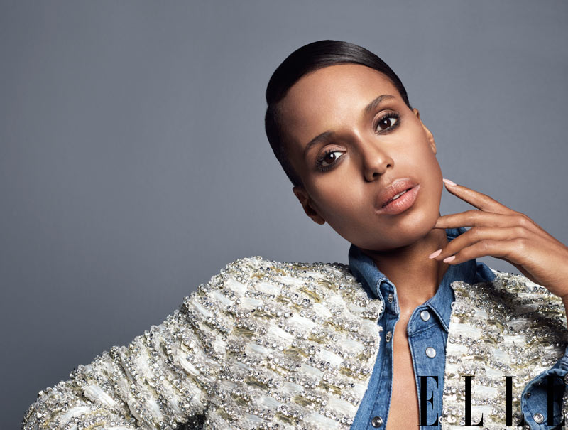 Kerry Washington ELLE2 Kerry Washington Sports Marc Jacobs for Elle US June 2013 Cover