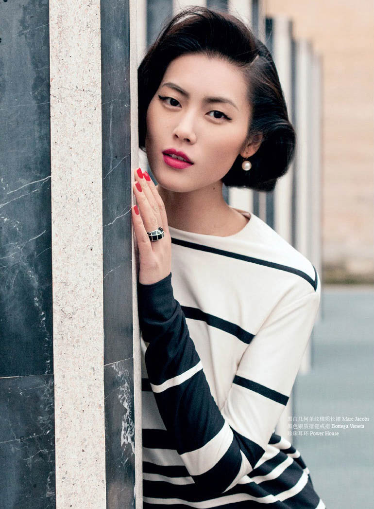 LiuWenOK8 Liu Wen Dubbed First Asian Supermodel in OK! China Cover Shoot