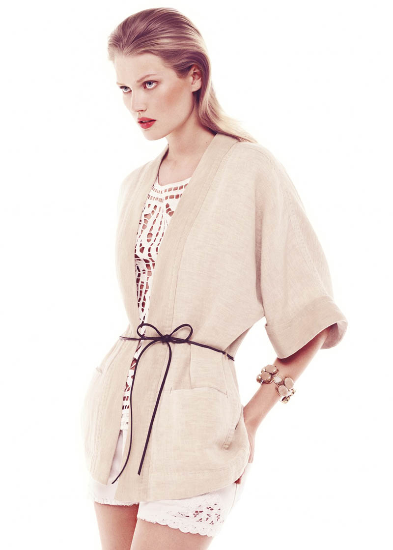 MangoSummerToni2 Toni Garrn Stars in Mango Romantic Essence Summer 2013 Lookbook