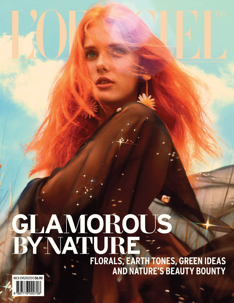 Jasmin Jalo Has a Natural High for L'Officiel Singapore's May 2013 Cover Shoot