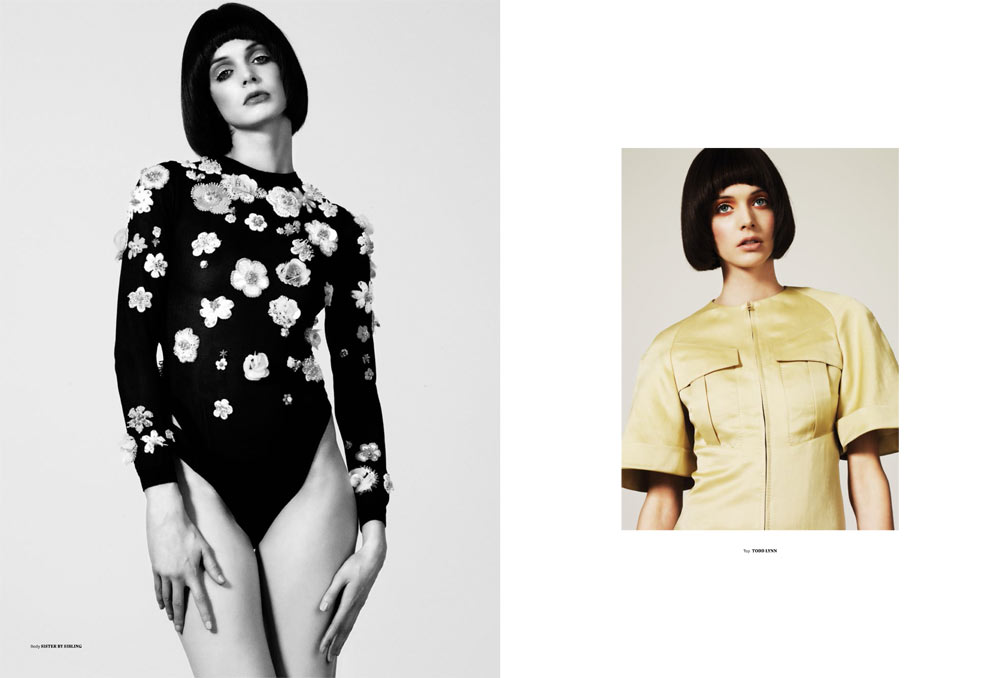 Charon Cooijmans Models Retro Style for Used Magazine Spring-Summer 2013
